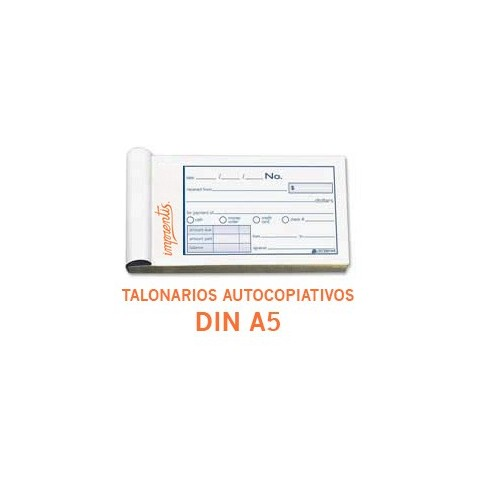 Talonarios autocopiativos DIN A5 - 1 color - (original + 2 copias)