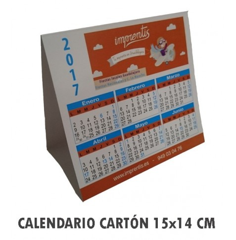 Calendario de mesa triangular 15 x 14 cm + Plastificado Brillo o Mate